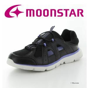 ムーンスター [セール] ウォーキングシューズ レディース SPLT L161 ブラック MOONSTAR 抗菌 ムーンスター 公式ショップ