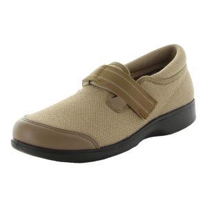 ムーンスター レディース 高齢者介護シューズ らくらく L019 ベージュ moonstar