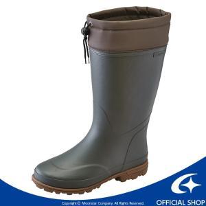 [セール] ムーンスター メンズ向けラバーブーツです。胴回りは広く、真冬の重ね着での着用にも適してい...