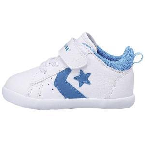 コンバース 子供靴 ベビーシューズ ミニ P-L 2 ホワイト/ブルー CONVERSE