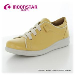 ムーンスター スポルス レディースコンフォートシューズ。丁寧な加工で仕上げた日本製です。表革は足にや...