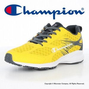 チャンピオン [セール] Champion 子供靴 ランニングシューズ CP JS042 SPEED COURT RACE 3 イエロー MNS|ムーンスター 公式ショップ