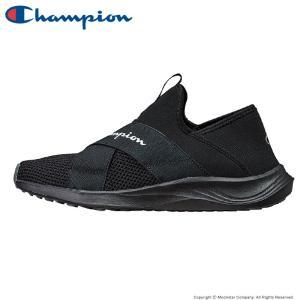 チャンピオン [セール] Champion メンズ/レディース スニーカー CP ACT022 BEANS FOAM SLIP3 ブラック|ムーンスター 公式ショップ