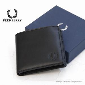 フレッドペリー FRED PERRY 栃木レザー 2つ折り財布 F19915 メンズ レディース 本...