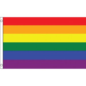 海外限定 国旗 虹 レインボーフラッグ 特大フラッグ