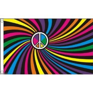 海外限定 国旗 虹 レインボーフラッグ LGBT ピースマーク 平和 特大フラッグ
