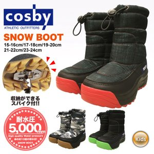18-19 2019 COSBY コスビー スノーブーツ CSSNB-33 ブーツ 防水 耐水 ジュ...