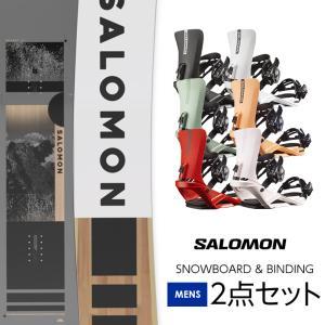 数量限定セット SALOMON サロモン 19 SUBJECT MEN スノーボード & PACT Burgundy バインディング 2点セット