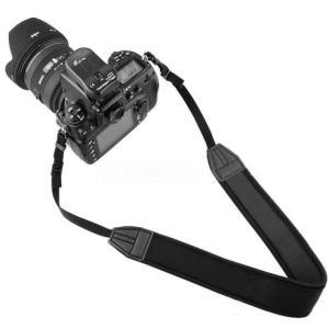 カメラストラップ 一眼レフ ミラーレス シンプル 黒 Canon Nikon OLYMPUS SONY EOS Kiss M X7i X8i X9i X10 D3400 D5600|morevalue