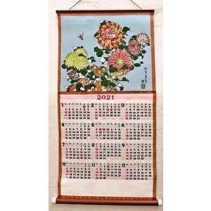新柄 2021年度版 織物カレンダー No,473 菊に虻 北斎|mori-hide