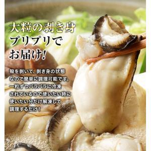 カキ 牡蠣 かき 広島県産 大粒2Lの牡蠣 約1kg 冷凍便 業務用 カキフライやお鍋に|morigen|04