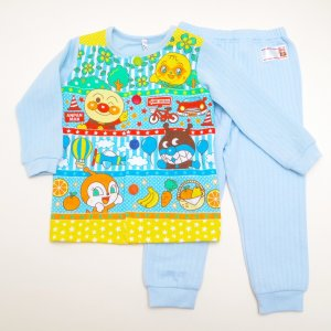 アンパンマン 男の子 レッツトライ パジャマ (お着替え練習用)長袖上着+パンツの上下セットです。 ...