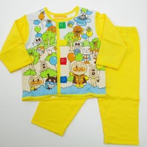それいけ!アンパンマンのお着替え練習パジャマ 品質表示:綿100%中国製 カラー:イエロー  サイズ...