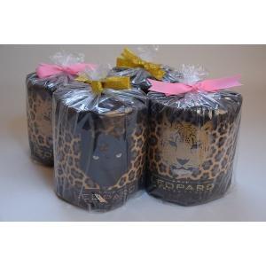 ヒョウ柄トイレットペーパー ダブル巻 香り付 個包装/4ロール|morika