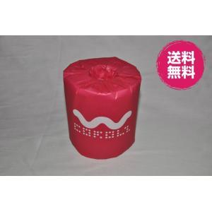カラーパステルトイレットシリーズ ピンク ダブル/香り付 個別包装 48個入り|morika