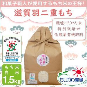 低農薬 有機肥料 滋賀羽二重もち 1.5kg 令和2年産 環境こだわり米 特別栽培米 morikawa-noujou