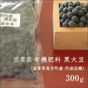 滋賀県高月町産 黒大豆 (丹波品種) 300g 低農薬 有機肥料 高級 国産|morikawa-noujou