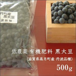 滋賀県高月町産黒大豆 (丹波品種) 500g 低農薬 有機肥料 高級 国産|morikawa-noujou