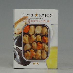 K&K 缶つまムール貝の白ワイン蒸し風 95g|morimoto