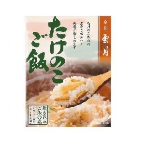 京都雲月 炊き込みご飯の素 たけのこご飯(三合用) 250g箱|morimoto