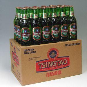 青島碑酒チンタオビール瓶 330ml×24