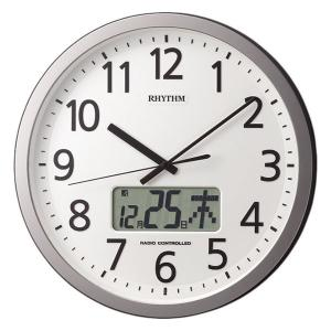 設定した時間にチャイムを鳴らす壁掛け時計 リズム 電波時計 4FN405SR19 文字入れ対応、有料|morimototokeiten