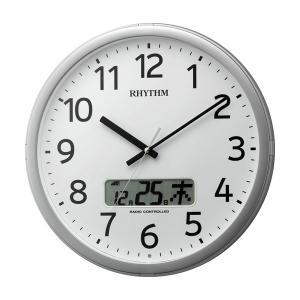 設定した時間にチャイムを鳴らす壁掛け時計 リズム 電波時計 4FNA01SR19 文字入れ対応、有料|morimototokeiten