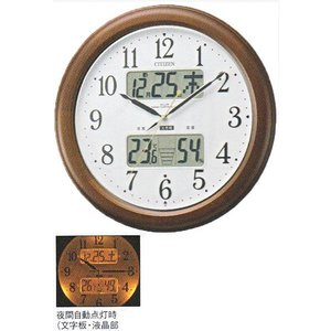 電波掛時計 シチズン CITIZEN 壁掛け時計 4FY620-006 インフォームナビ 文字入れ対応、有料 取り寄せ品|morimototokeiten