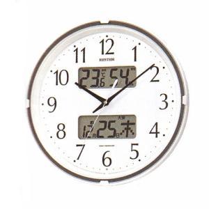 壁掛け時計 温湿度計 カレンダー付 電波時計 4FYA07SR03  文字入れ対応、有料 取り寄せ品|morimototokeiten