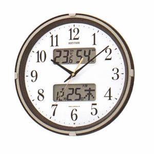 壁掛け時計 温湿度計 カレンダー付 電波時計 4FYA07SR06  文字入れ対応、有料 取り寄せ品|morimototokeiten