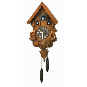はとトケイ ハト時計 壁掛け時計 カッコーパンキー リズム時計 RHYTHM 掛時計 4MJ221RH06 文字名入れ不可 取り寄せ品|morimototokeiten