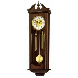 木枠の柱時計 リズム RHYTHM キャロラインR 壁掛け時計 4MJ742RH06 文字入れ対応、有料 取り寄せ品|morimototokeiten
