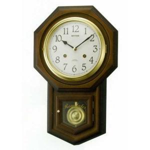 木枠の柱時計 リズム RHYTHM フィオリータR 壁掛け時計 4MJ770RH06 文字入れ対応、有料 取り寄せ品|morimototokeiten