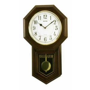 木枠の柱時計 リズム RHYTHM ベングラーR 壁掛け時計 4MJA03RH06 文字入れ対応、有料 取り寄せ品|morimototokeiten