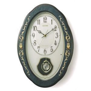 メロディ 壁掛け時計 電波時計 リズム RHYTHM 掛時計 4MN461HG11 文字入れ名入れ対応、有料 取り寄せ品|morimototokeiten