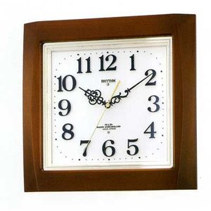 メロディ電波掛時計 リズム RHYTHM 壁掛け時計 4MN468RH06 文字入れ対応、有料 取り寄せ品|morimototokeiten