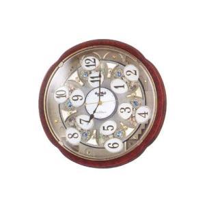 からくり時計 からくり動作が楽しめる電波掛時計 4MN480RH23  取り寄せ品|morimototokeiten