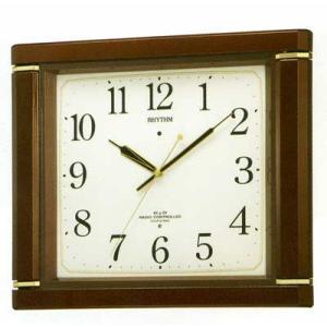 メロディ電波掛時計 リズム RHYTHM 壁掛け時計 4MN494RH06 文字入れ対応、有料 取り寄せ品|morimototokeiten