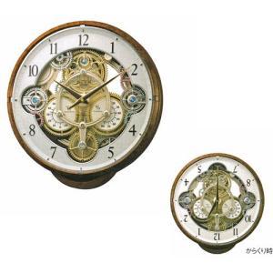 からくり時計 メロディ 電波時計 スモールワールドシーカー 壁掛時計 4MN515RH23 リズム RHYTHM 文字入れ対応、有料 取り寄せ品|morimototokeiten