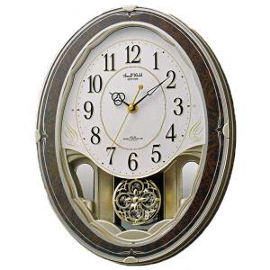 リズム RHYTHM メロディ 電波時計 スモールワールドハイム  壁掛け時計 4MN520RH23 文字入れ対応、有料 取り寄せ品|morimototokeiten