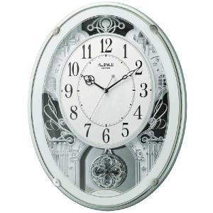 メロディ電波時計 壁掛け時計 スモールワールドプラウド 4MN523RH05 掛時計 リズム時計 文字入れ対応、有料 取り寄せ品|morimototokeiten