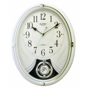 メロディ電波時計 壁掛け時計 スモールワールドリリィ 4MN528RH03 掛時計 リズム時計 文字入れ対応、有料 取り寄せ品|morimototokeiten