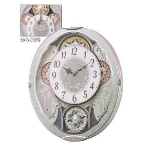からくり時計 メロディ 電波時計 スモールワールドビスト 4MN537RH04 リズム RHYTHM 文字入れ対応、有料 取り寄せ品|morimototokeiten