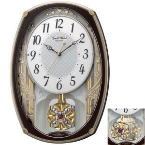 メロディ電波時計 壁掛け時計 4MN540RH06 スモールワールドレジーナ 掛時計 リズム時計 文字入れ対応、有料 取り寄せ品|morimototokeiten