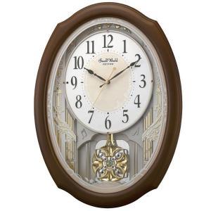 メロディ電波時計 壁掛け時計 4MN541RH06 スモールワールドセレブレ 掛時計 リズム時計 文字入れ対応、有料 取り寄せ品|morimototokeiten