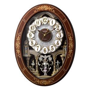からくり時計 メロディ 電波時計 4MN546RH06 スモールワールドレガロ リズム RHYTHM 文字入れ対応、有料 取り寄せ品|morimototokeiten