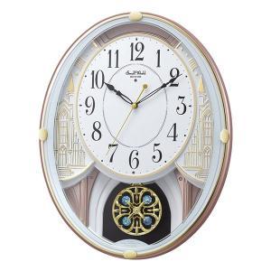 メロディ 電波時計 壁掛け時計 スモールワールドエクラ 4MN548RH03 掛時計 リズム時計 文字入れ対応、有料 取り寄せ品|morimototokeiten