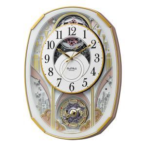 からくり時計 メロディ 電波時計 4MN551RH03 スモールワールドノエルS リズム RHYTHM 文字入れ対応、有料 取り寄せ品|morimototokeiten