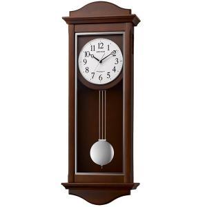 木枠の柱時計 電波時計 リズム RHYTHM シューマスR 壁掛け時計 4MN552SR06 文字入れ対応、有料 取り寄せ品|morimototokeiten