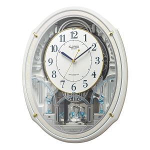 からくり時計 メロディ 電波時計 スモールワールドアルディN 4MN553RH03 リズム RHYTHM 文字入れ対応、有料 取り寄せ品|morimototokeiten